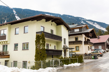 Ski resort town Bad Gastein in  mountains, Austria