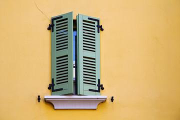 abbiate varese italy abstract  window   green   yellow wall