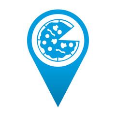 Icono localizacion simbolo pizzeria