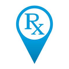 Icono localizacion simbolo RX