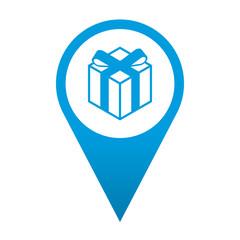 Icono localizacion simbolo regalo