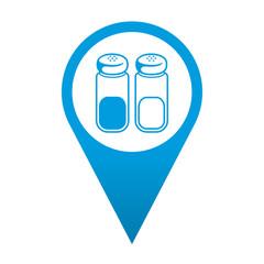 Icono localizacion simbolo sal y pimienta