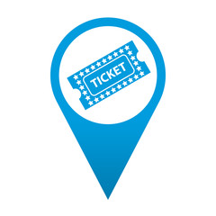 Icono localizacion simbolo ticket