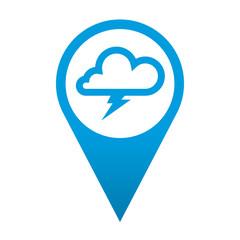 Icono localizacion simbolo tormenta