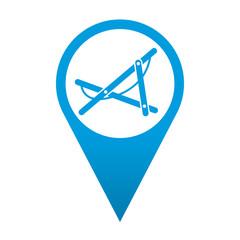 Icono localizacion simbolo tumbona