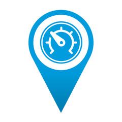 Icono localizacion simbolo velocidad