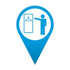 Icono localizacion simbolo vestuario masculino