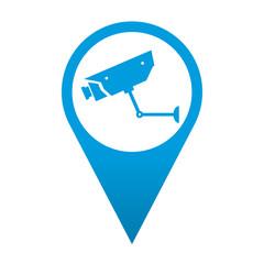 Icono localizacion simbolo camara de seguridad