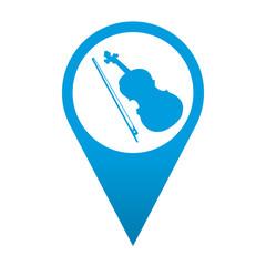 Icono localizacion simbolo violin