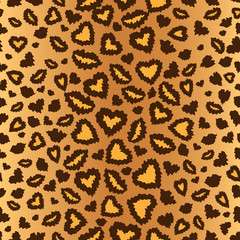 leopard skin seamless background