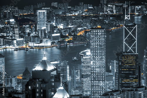 Fotobehang Hong-Kong Hong Kong skyscrapers