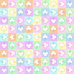 Seamless pattern with trefoils