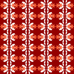 floral pattern seamless red