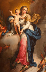 Verona - Madonna paint from Maffei chapel in Duomo