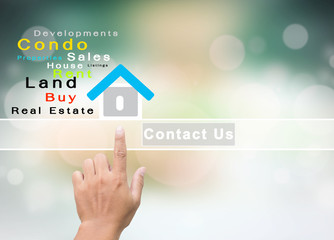 Real Estate Company With Contact Us Concept