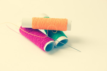 Sewing threads And Needle Background,Filters Look