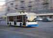 trolleybus going in the city - 65464691
