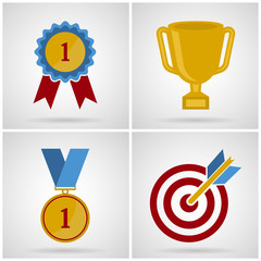 success icon set. Vector illustrations