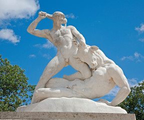 Paris - Hercules and Mintaurus statue - Tuileries garden