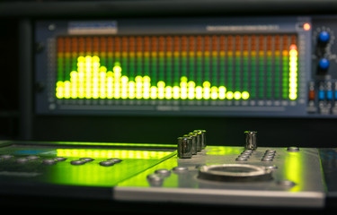 Professional deejay equipment with music mixing controller