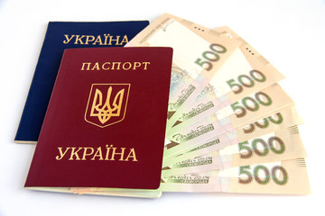 Ukrainian hryvnia, Ukrainian passport and foreign passport