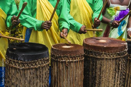 Leinwanddruck Bild African drummers