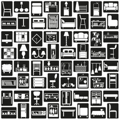 furniture icons black
