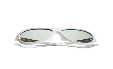 3D Glasses on the white background