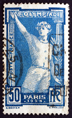 Postage stamp France 1924 Victorious Athlete