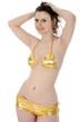 Twen in Gold-Bikini