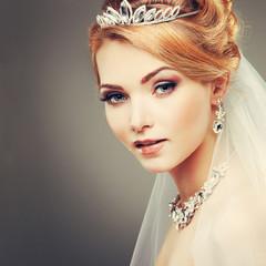 beautiful girl in a wedding-dress. Wedding decorations