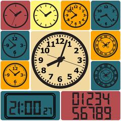 Wall mounted digital clock.