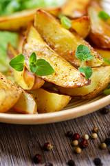 Würzige Kartoffelspalten