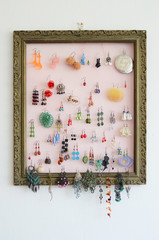 earrings display frame