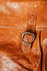 old leather bag detail