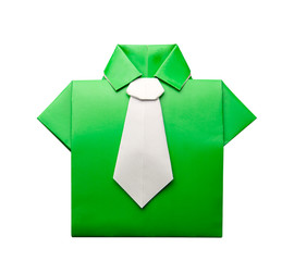 Origami shirt with tie