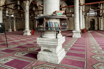 Religious books in the mosque of AMR Ibn Al-Aasa in Egypt in Cai