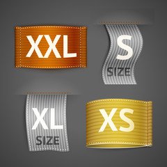 Clothing labels set