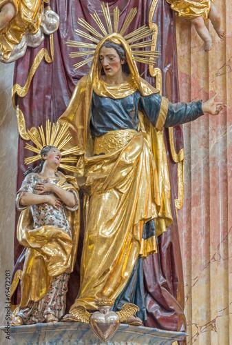 Vienna - Polychrome baroque statue of st. Ann