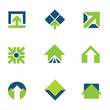 Going green for natural business success arrow up logo icon