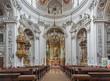 Vienna - Nave of baroque Servitenkirche church
