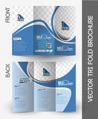 Milk Store Tri-Fold  Brochure Design.