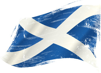 Scottish flag grunge
