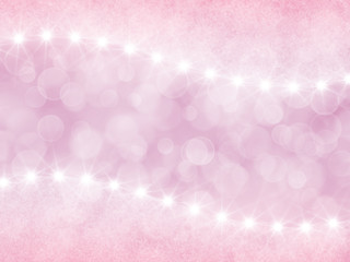 Abstract pastel pink  background with boke effect and stars