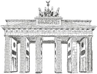 Berlin Brandenburger Tor Zeichnung Illustration