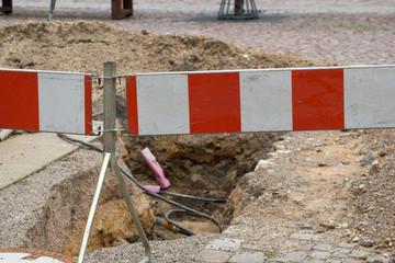 Absperrung an einer Baustelle