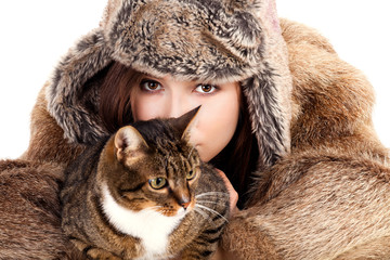 young woman and her pet
