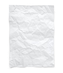 crumpled paper with clipping path