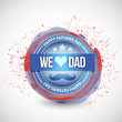 happy fathers day seal illustration design