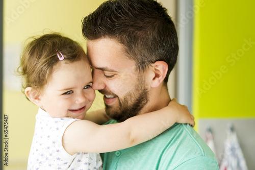Leinwandbild Motiv Father and daughter